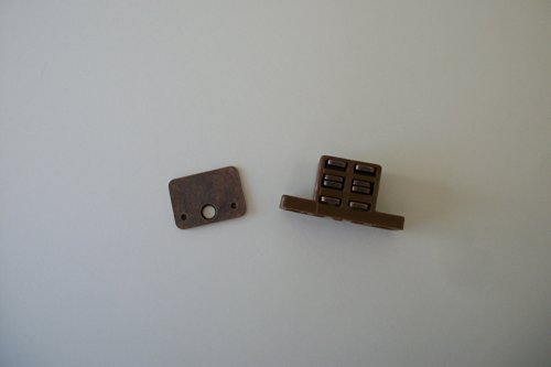 Plastic 25 lb Magnetic Catch for Shutters - Brown - 2 Pack