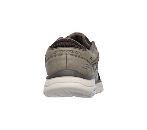 Skechers Mens In Forma Rilassata Scivola Piaro Sneaker Grigio