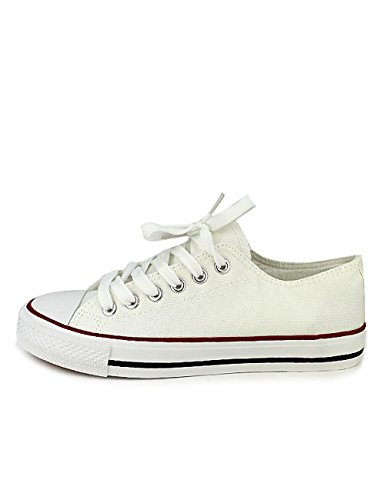 Cendriyon Baskets Blanches CENVERS Toile Chaussures Femme Blanc SE9oYsF