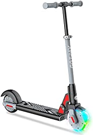 """GOTRAX GKS LUMIOS Electric Scooter for Kids 6-12, 150W Motor and 25.2V 2.6Ah Lithium Battery, 6"""" LED Lumi"""