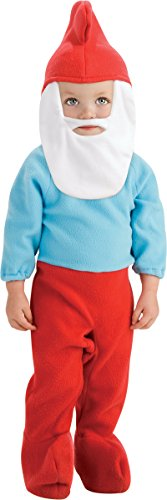 [The Smurfs-Papa Smurf Infant/Toddler Costume] (Smurf Baby Costumes)