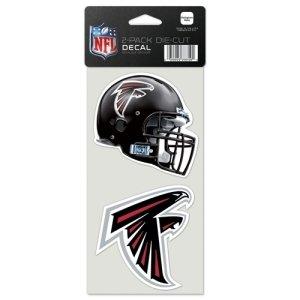 Atlanta Falcons Helmet Wall - Atlanta Falcons Set of 2 Die Cut Decals