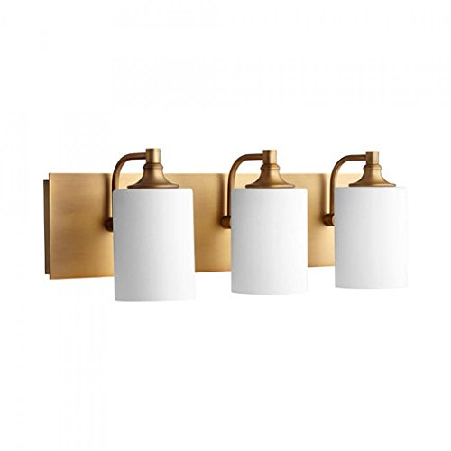 Brass Bathroom Lighting - Quorum 5009-3-80 Celeste 24.5