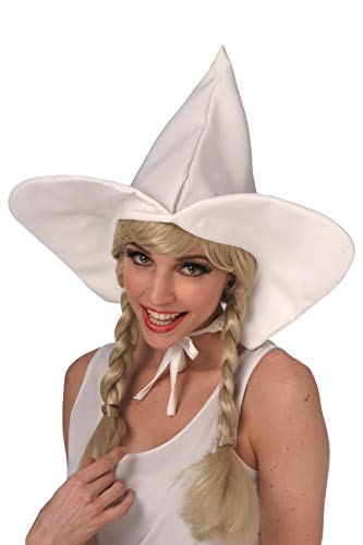Dutch Girl Cap Pilgrim Quaker Womens White Hat Witch Adult Costume Accessory