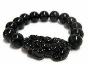 Pi Yao with Obsidian Bracelet ( BLACK COLOR) for protection, prosperity and luck Women's Bracelets at amazon