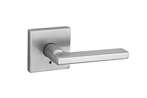 (Kwikset 155HFL SQT 26D Halifax Square Privacy Bed/Bath Lever in Satin Chrome)