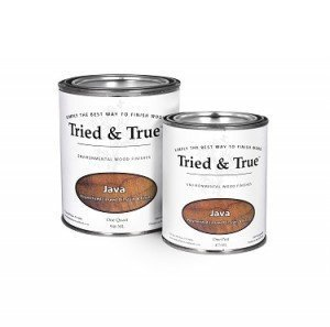 Tried and True Wood Stain- 100% solvent free, zero VOC, and safe for food and skin contact (Quart, Java)