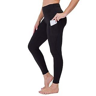 Gayhay High Waist Yoga Pants with Pockets for Women - Tummy Control Workout Running 4 Way Stretch Yoga Leggings (Black, Medium)