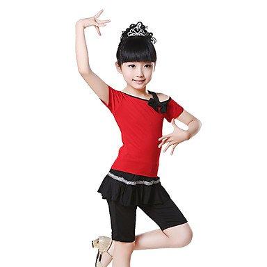 Danza Classica Completi per Bambini Addestramento Cotone Arco 2 Pezzi Maniche Corte Naturale Pantaloni / giacca100:42cm, 110:45cm, 110