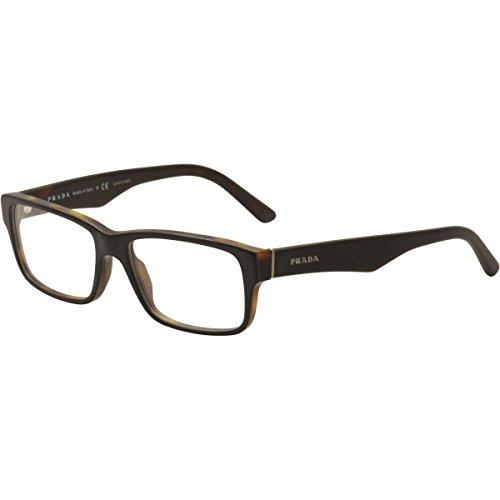 Prada Eyeglass Frames PR16MV UBH1O1-55 - Top Black/matte Tortoise PR16MV-UBH1O1-55 -