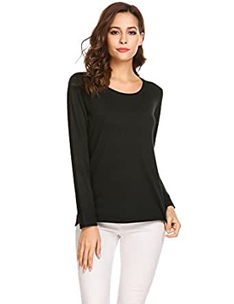Soteer Womens Loose Off Shoulder Pullover Sweater Long Sleeve Knitted Tops Shirt