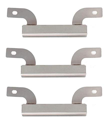 (Bigbox Carryover Crossover Tubes for Brinkmann Grill Replacement Parts 810-3660-S, 810-8501-S, 810-8502-S, Stainless Steel Cross over Burners for Backyard Classic, Charmglow Grill (7 5/8 inch, 3-PACK))