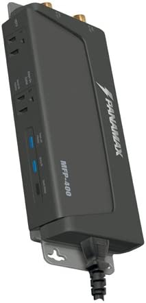 Amazon Com Panamax Mfp 400 2 Outlet Hd Ready Surge Protect Black Discontinued By Manufacturer Home Audio Theater