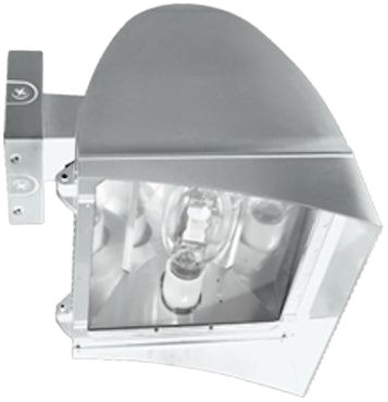 350w Mh Wall - RAB Lighting FXLH350XPSQW Flexflood Xl 350W Mh PSQT HPF Pulse Start Wall Mnt Lamp, White