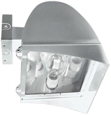 RAB Lighting FXLH350XPSQW Flexflood Xl 350W Mh PSQT HPF Pulse Start Wall Mnt Lamp, White