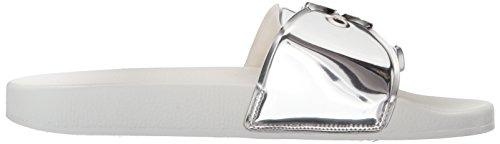 Dr. Scholls Frauen OG Pool Slide Sandale Silberspiegel