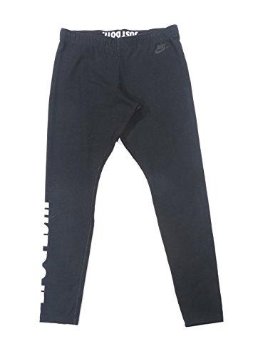 Nike Women's Leg-a-see-logo Leggings Tights Pants (Large, Black/white)