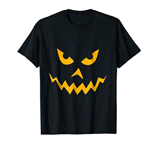 Smilealottees Scary Pumpkin Face Halloween Cartoon T-shirt -