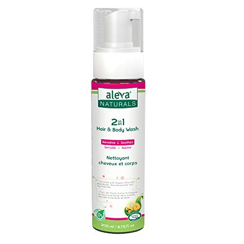 2in1 Hair and Body Wash | Self Foaming | Tea Tree Oil Formula | Perfect for Cradle Cap | Made with Natural and Organic Ingredients | pH Balanced and Sensitive on Eyes | (6.75 fl.oz / 200ml)