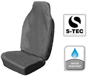 S Heavy Duty Durable Water Resistant Single Seat Cover Grey tech automotive Smart FORTWO All Models