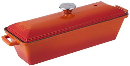 Lava Signature Enameled Cast-Iron Bread/Terrine Pot - 3 x 10 inch, Orange -
