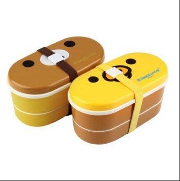 Cute Relax Bear/chicken Pattern Heat Preservation Lunch Box, Children Bento Box with Chopsticks