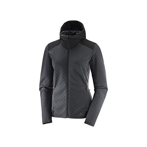 Elevate Chaqueta Mid FZ BLACK Mujer W HEATHER Salomon FwUaqd6xa