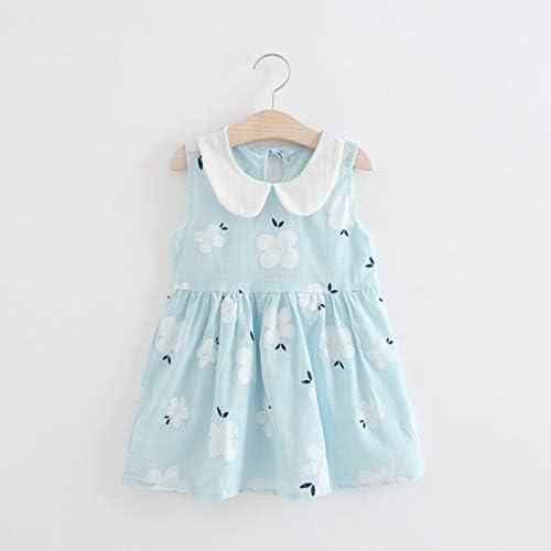 かわいい女の赤ちゃんノースリーブさくら花プリントプリンセスパーティードレスノースリーブ夏のサンドレス女の赤ちゃんのドレス