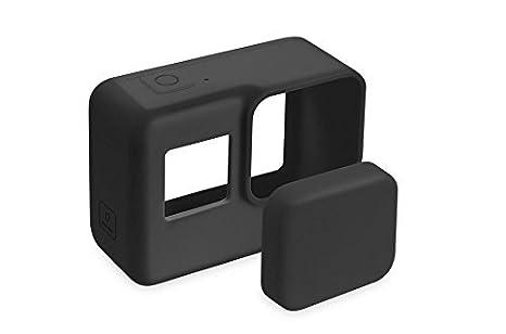 kelaina dedicado Hero 5 accesorios GoPro 5 protectora de silicona para cámara carcasa estándar funda GP400 (negro)