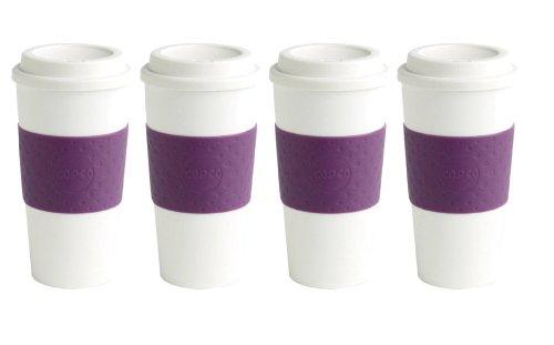 Copco Acadia Reusable Travel Mug, 16 oz., Plum - 4 Pack
