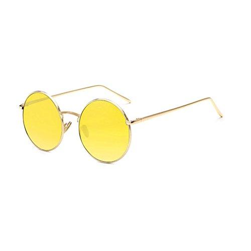 4 de Elegante HOME la Playa de Personalidad la Gafas de Sol Moda QZ Color Vendimia de 4 wIFdqZzC