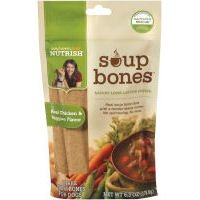 Rachael Ray Nutrish Soup Bones Real Chicken and Veggies Flavor Chews Dog Treats, 6.3-oz bag, My Pet Supplies
