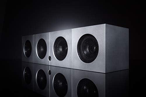Soundgil Hello-Finish Hello-Fi Speaker 200-Watt 4 Speaker Bluetooth Wi-fi Speaker Residence Theater Speaker System Premium Anodized Aluminum Bookshelf Superior Stereo Sound System-Dice Speaker (Silver)