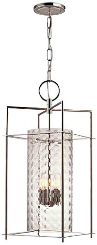 Esopus 4-Light Pendant - Polished Nickel Finish with Clear Glass Shade
