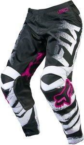 Fox Racing 180 Kids Girls Off-Road Motorcycle Pants - Black/Pink/Size (Girls Motocross Pants)
