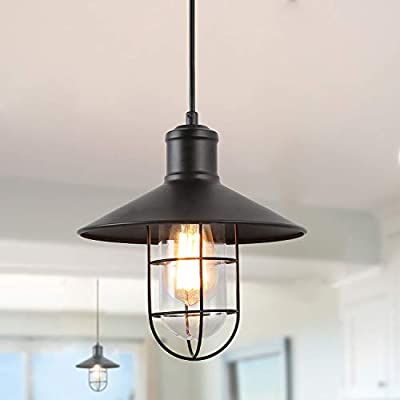 LNC Pendant Lighting for Kitchen Island Black Ceiling Hanging Lamp A01910