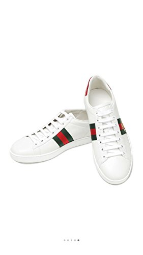 f117bc9e6 ... Simple-Gucci New Style Women's Shoes Leather Embroidery Small Bee  Sports Shoes Casual Shoes White ...