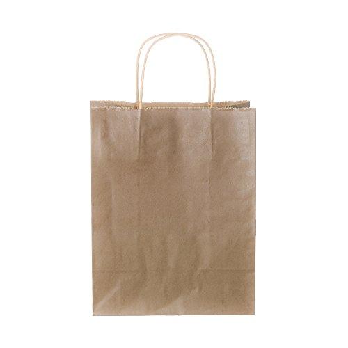 Natural Kraft Paper Shopping Bags, 200/pk, 14x9x16