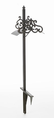 Liberty Garden Products 649-KD Hyde Park Decorative Metal Garden Hose Stand, Holds 125-Feet of 5/8-Inch Hose - Bronze