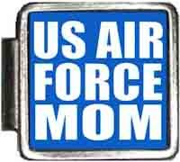 US Air Force Mom Italian Charm Bracelet Jewelry Link A10426