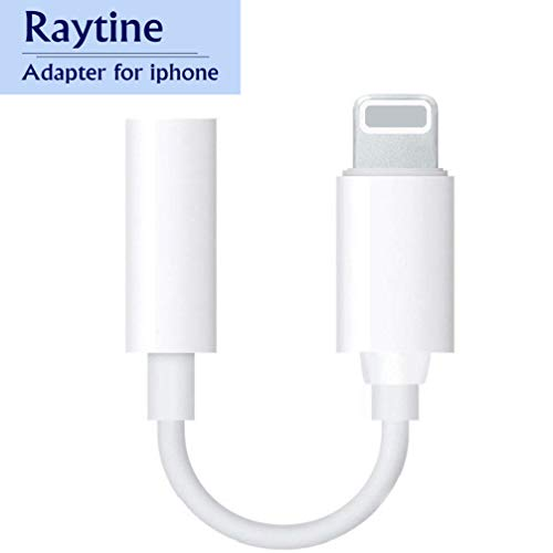 Raytine for iPhone Adapter Headphone Adaptor Splitter 3.5mm Jack Dongle Convertor Earphone Connector Accessories Cables Audio Splitter Compatible with iPhone Xs/XS MAX/XR/X/ 10/8/ 8Plus 7/7 Plus