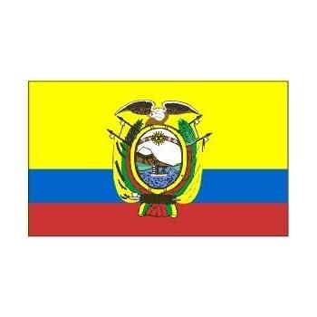Amazoncom Ecuador Flag X Brand NEW X Banner With Crest - Ecuador flags