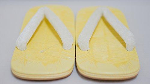 Zori Setta: mens sandales dernière conception authentique de blanc doux ceintures 26.5cm (Soft bande de feutre)