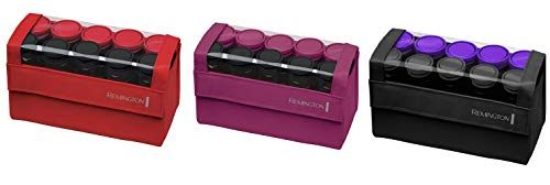 Hot Jumbo Rollers Hair - Remington H1016 Compact Ceramic Worldwide Voltage Hair Setter, Hair Rollers, 1-1 ¼ Inch, Purple/Black