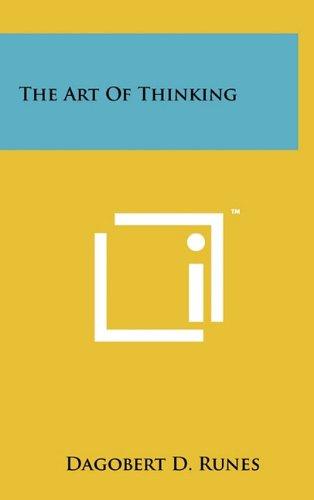 Download The Art Of Thinking pdf epub