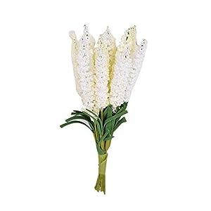 BYyushop 10Pcs/Bouquet Artificial Hyacinth Flower DIY Crafts Wedding Home Floral Decor - Milk White 11