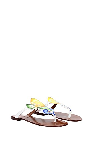 C19242AC2108M180 Dolce&Gabbana Chancletas Mujer Charol Blanco Blanco
