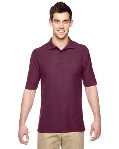 (Jerzees Men's Easy Care Well-Knit Professional Polo Shirt, Maroon, Small)