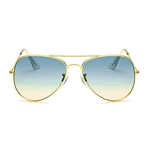 10 Rétro Bleu de Unisexe Couleur soleil Alloy Lunettes Fashion Style Frame Murieo Casual c5qp07vpw