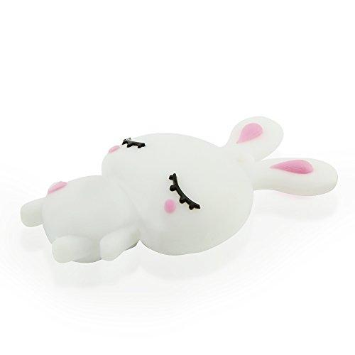 CHUYI Cute and Novelty Animal Series Rabbit Shape Design 32GB USB 2.0 Flash Drive Pen Drive Memory Stick Cartoon Thumb Drive Lovely Jump Drive Data Storage U Disk Gift (White) by CHUYI (Image #5)